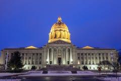 Jefferson City, Missouri - wejście Twierdzić Capitol budynek zdjęcia stock
