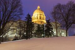 Jefferson City, Missouri - wejście Twierdzić Capitol budynek zdjęcie stock
