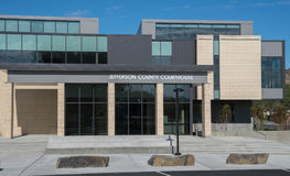 Jefferson County Courthouse i Madras, Oregon Arkivfoto