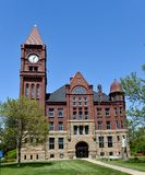 Jefferson County Courthouse. This is a Spring picture of the Jefferson County Courthouse located in Fairfield, Iowa. The courthouse was designed by H.C. Koch, is stock image