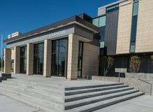 Jefferson County domstolsbyggnad i Madras Oregon Royaltyfri Fotografi