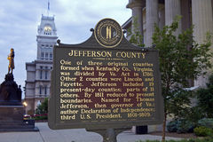 Jefferson County sign Stock Photography