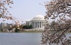 Jefferson-Denkmal im Frühjahr stockfotos
