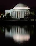 Jefferson-Denkmal nachts Stockbild