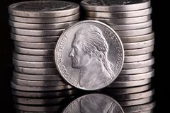 Jefferson Head Nickel Royalty Free Stock Images
