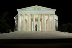 Jefferson Memorial. Captured in the late evening hours Stock Photos