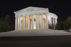 Jefferson Memorial. Captured in the late evening hours Royalty Free Stock Photos