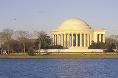 Jefferson Memorial. From offshore in Washington, DC on the National Mall Stock Image