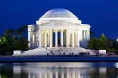 Jefferson Memorial. The Jefferson National Memorial at dusk in Washington DC, USA stock image