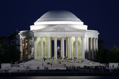 Jefferson Memorial. Night view of the Thomas Jefferson Memorial in Washington, D.C Royalty Free Stock Images
