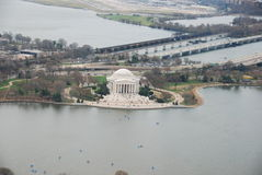 Jefferson Memorial aerial view Royalty Free Stock Photography