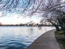Jefferson Memorial afton Arkivfoto