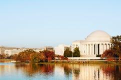 Jefferson Memorial, bacino di marea Fotografia Stock