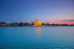 Jefferson Memorial bij schemering royalty-vrije stock afbeeldingen