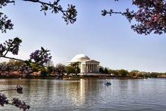 Jefferson Memorial Building. Exterior facade of the Thomas Jefferson Memorial on the Tidal Basin in Washington DC Royalty Free Stock Image