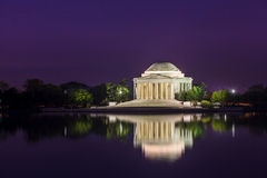 The Jefferson Memorial during the Cherry Blossom Festival in DC Royalty Free Stock Photography