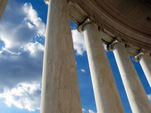 Jefferson Memorial Columns in Washington DC Stock Photography