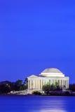 Jefferson Memorial an der Dämmerung, Washington DC Stockfotos