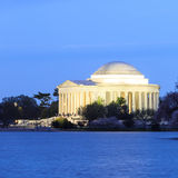 Jefferson Memorial durante Cherry Blossom Festival Washi Fotografia de Stock
