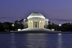Jefferson Memorial en la oscuridad foto de archivo libre de regalías