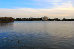 Jefferson Memorial at the evening Stock Images