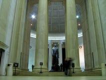 Inside Thomas Jefferson Memorial. People walking inside the Thomas Jefferson Memorial Royalty Free Stock Image