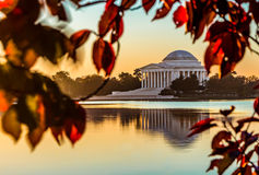 Jefferson Memorial i nedgång Royaltyfri Bild