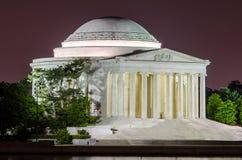 Jefferson Memorial i Washington DC Arkivbild