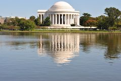 Jefferson Memorial and its Reflection Royalty Free Stock Image