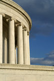 Jefferson Memorial Marble Columns. Marble Columns on the Jeffeson Memorial Stock Photos