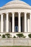 Jefferson Memorial mit Thomas Jefferson in der Ansicht Stockbild