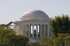 The Jefferson Memorial at Morning Light. Jefferson Memorial, Morning Light, Telephoto View Stock Photography