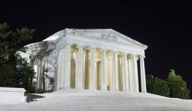 Jefferson Memorial nachts Lizenzfreie Stockbilder