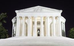 Jefferson Memorial nachts Lizenzfreies Stockbild