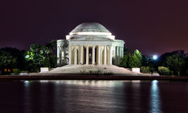 Jefferson Memorial at night Stock Photos