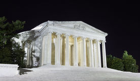 Jefferson Memorial at night Royalty Free Stock Images