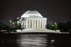 Jefferson Memorial at night, Washington DC Royalty Free Stock Images