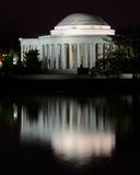 Jefferson Memorial at night Stock Image