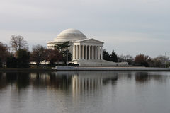 Jefferson Memorial Reflections on Water Washington Stock Image