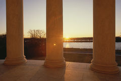 Jefferson Memorial at sunset Royalty Free Stock Image
