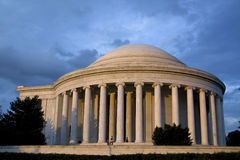 Jefferson Memorial at Sunset in Washington Royalty Free Stock Photos