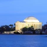 Jefferson Memorial under Cherry Blossom Festival Washi Arkivbild