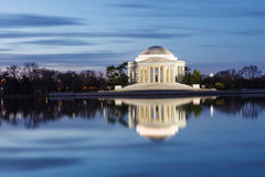 Jefferson Memorial Washington DC-Blau-Stunde lizenzfreie stockbilder