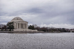 Jefferson Memorial in Washington DC at cloudy Stock Photography