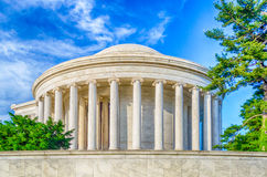 Jefferson Memorial in Washington DC. The Jefferson Memorial in Washington DC in daylight royalty free stock photography