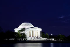 Jefferson Memorial in Washington DC at Dusk Royalty Free Stock Image