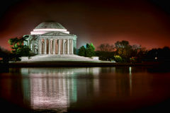 Jefferson Memorial in Washington DC at Night Royalty Free Stock Photography