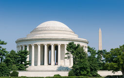 Jefferson Memorial and Washington Monument Washington DC Royalty Free Stock Photography