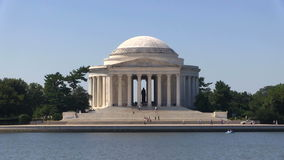 Jefferson Memorial Zoom stock footage