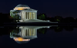 The Jefferson at Night. The Thomas Jefferson Memorial is a presidential memorial in Washington, DC, dedicated to Thomas Jefferson one of the most important of stock photo